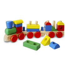 Load image into Gallery viewer, Stacking Train (18 Solid Wood Brightly Coloured Pieces)