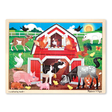 Wooden Puzzle-Barnyard Buddies 24pc