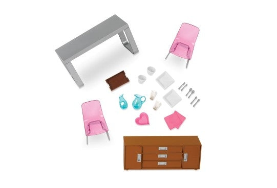 Lori - Dollhouse Moderna Dining Set
