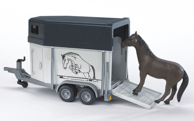 Horse Trailer with Horse Bruder