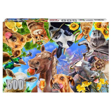 Puzzle 500pc Silly Farm Animals