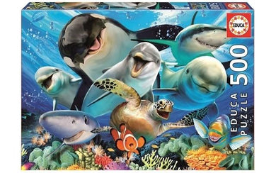 Puzzle 500pc Underwater Selfies