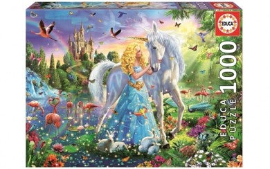 Puzzle 1000pc The Princess & The Unicorn