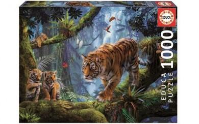 Puzzle 1000pc Tigers In The Tree