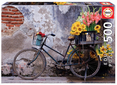 Puzzle 500pc Bicycle with Flowers