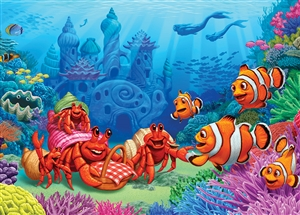 Puzzle 35pc Wood Clownfish Gathering