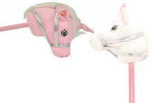 Load image into Gallery viewer, Pink/White Unicorn Hobby Horse