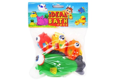Honeybaby vinyl fish 4pc