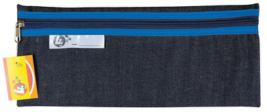 Denim Pencil Bag 33x14cm