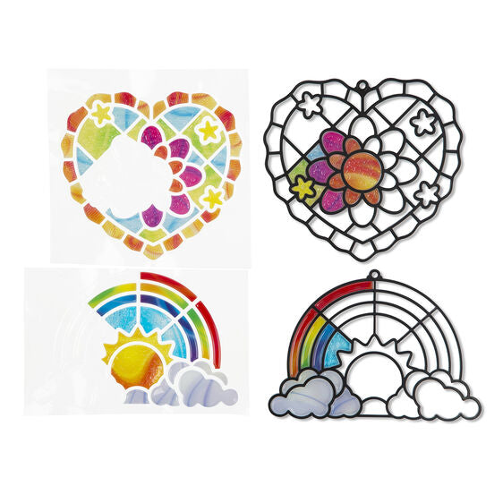 Stained Glass Made Easy Rainbow & Hearts