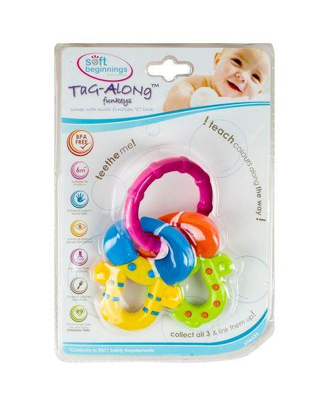 Tag-Along Funkey Teether Soft Bite