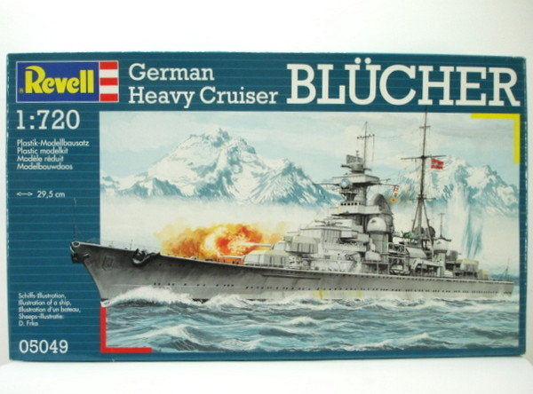 Revell Blucher German Heavy Cruiser (scale 1 :720)