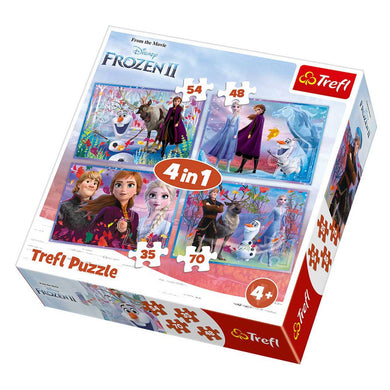 Puzzle 4 in 1 (35, 48, 54, 70) Frozen 2
