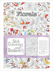 Wordsearch & Adult Colouring - Florals
