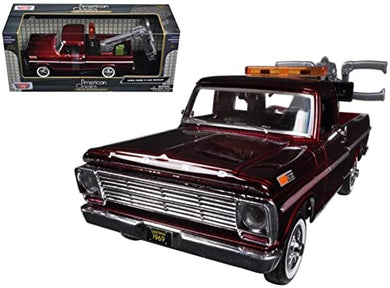 Ford F-100 Tow Truck Burgundy 1969 (scale 1 : 24)