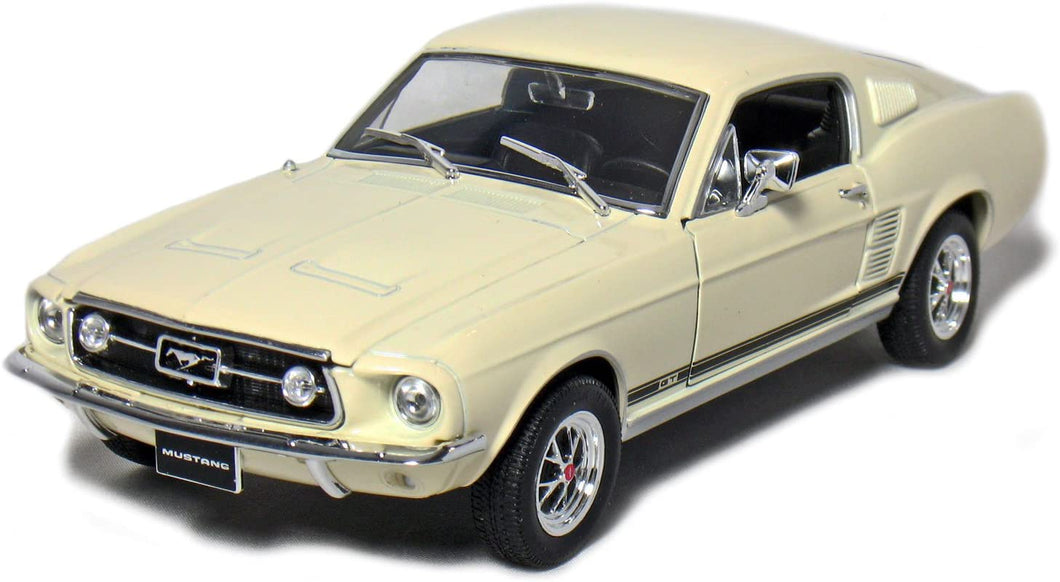 Ford Mustang GT Cream 1967 (scale 1 : 24)