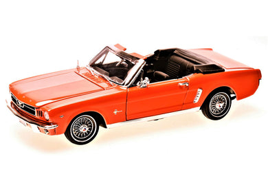 1/2 Ford Mustang (Convertible) Orange 1964 (scale 1 : 18)