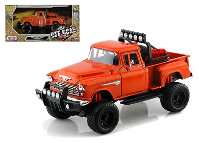 Chevy 5100 Stepside Off Road Orange 1955 (scale 1 : 24)