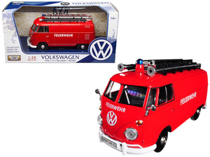 VW Type 2 (T1) fire truck red 1:24