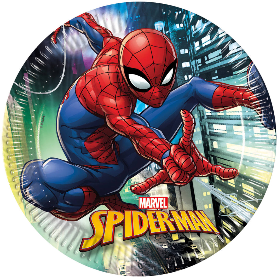 Spiderman Team Up Plates Lrg 23cm 8pc