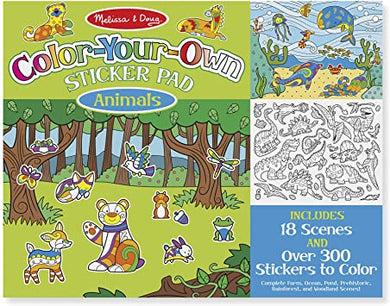 Colour-Your-Own Animal Sticker Pad