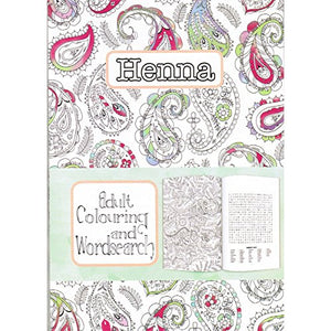 Wordsearch & Adult Colouring - Henna