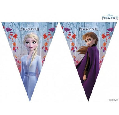 Frozen II Sparkle Triangle Flag Banner 1ct