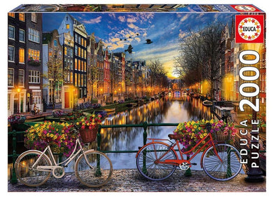 Puzzle 2000pc Amsterdam 2 Bicycles