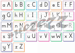Alphabet Block Letters Frieze