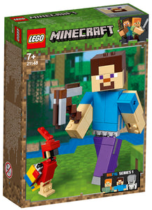 21148 Steve BigFig with Parrot Minecraft
