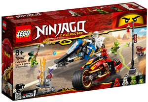 70667 Kai's Blade Cycle & Zane's Snowmobile Ninjago