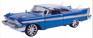 Plymouth Fury Blue 1958 (scale 1 : 18)
