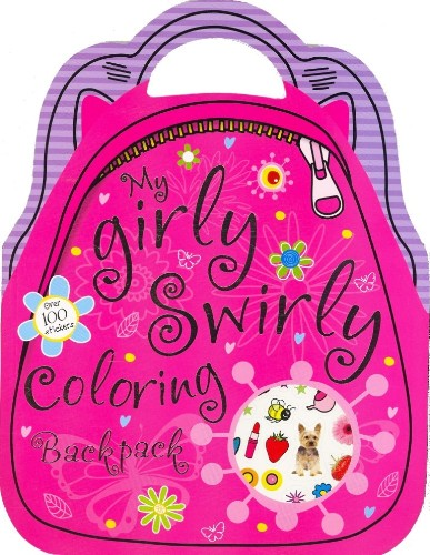 My girly swirly colouring backpack