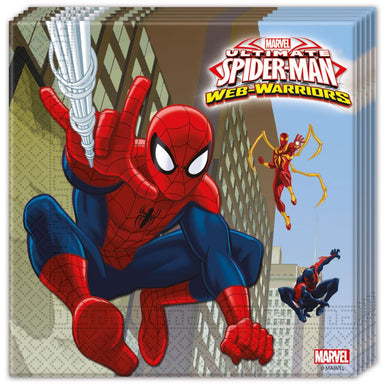 Spiderman Web Wars Serviettes 20pc