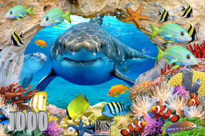 Puzzle 1000pc Sharks View