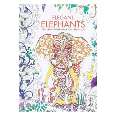 Elephants Adult Coloring Book