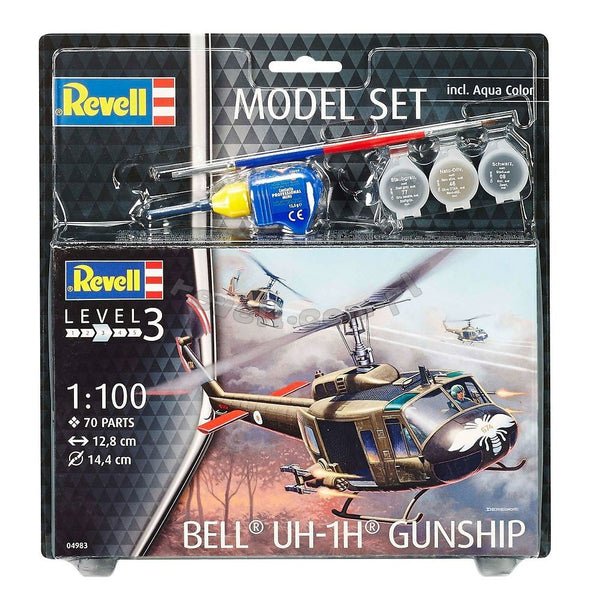 Model Set Bell UH-1H Gunship (scale 1 : 100)