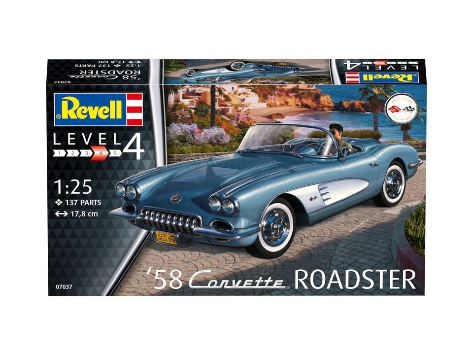 Corvette Roadster 1958 Model Kit 1/25