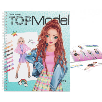Top Model Create Your TM Colouring Book