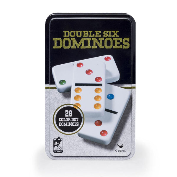 Double Six Dominoes In Tin