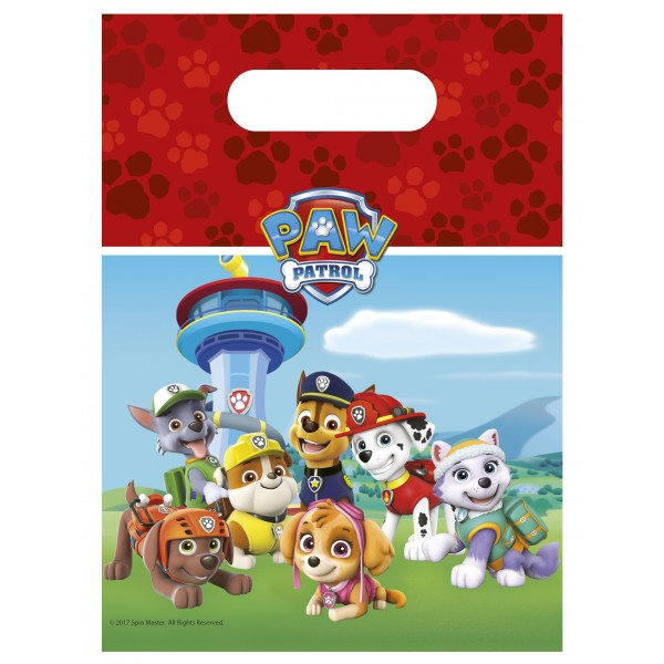 Paw Patrol Ready For Action Party Bags 6pc