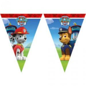 Paw Patrol Ready For Action Triangel Flag Banner
