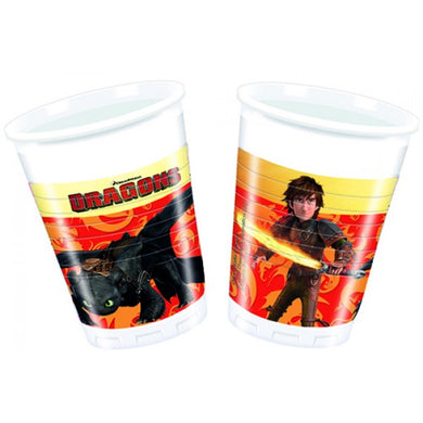 Dragons Cups 8pc (How To Train Your Dragon)