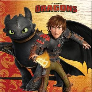 Dragons Serviettes 20pc (How To Train Your Dragon)
