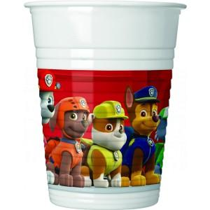 Paw Patrol Ready For Action Plastic Cups 8pc