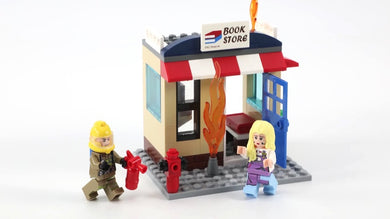 Fire Rescue/Bookstore On Fire 88pc