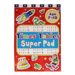 Times Tables Super Pad (Ages 7-10)