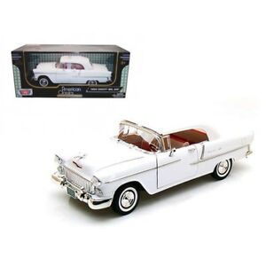 Chevy Bel Air Convertible with Soft Top Yellow (scale 1:18)