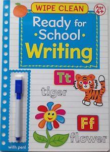 Wipe Clean Ready For School : Writing 2
