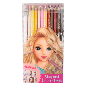 Top Model Colouring Pencil Set Skin & Hair Colours 12pc